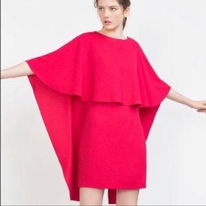 1e3c1d1f Zara Dresses | Cape Dress With Low Back Fuchsia Pink Size Xs | Poshmark